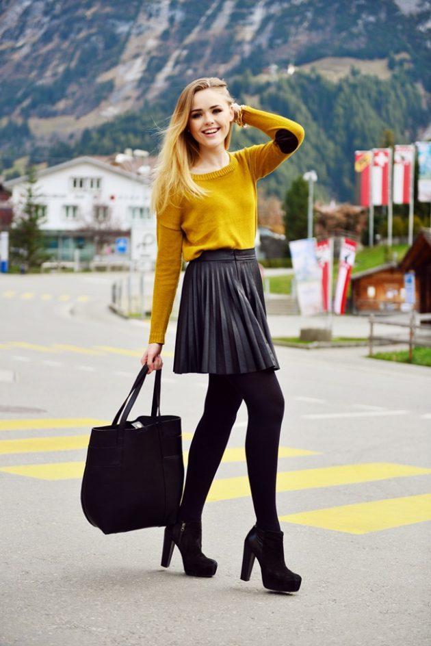 3-siyah-mini-etek-ve-hardal-rengi-kazak