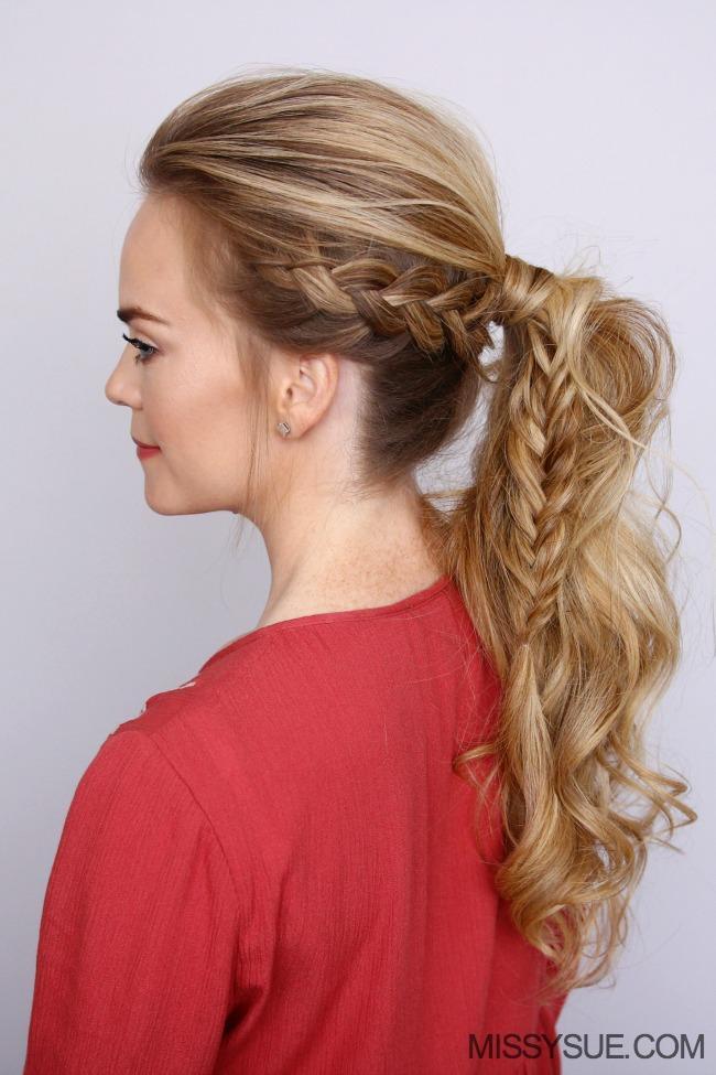 Hollanda örgülü at kuyruğu saç modeli (1)