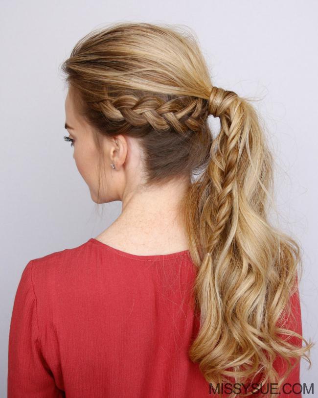 Hollanda örgülü at kuyruğu saç modeli (2)