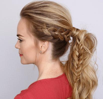 Hollanda Örgülü At Kuyruğu Saç Modeli Yapımı