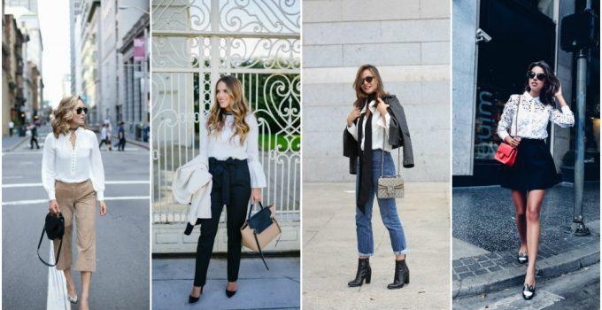 2017-2018 Moda Trendi: Beyaz Gömlek Kombinleri