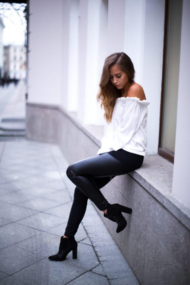 Beyaz gömlek kombinleri (3)