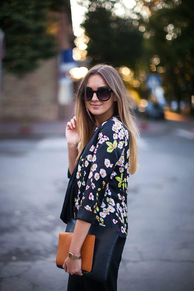 Çiçekli ceket stil önerileri
