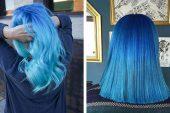 Mavi Ombre Saç Rengi ve Saç Modelleri