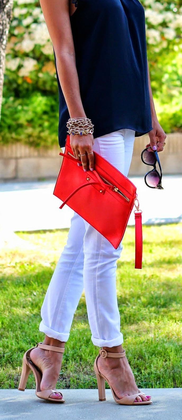 İlkbahar Yaz 2019 Beyaz Kot Pantolon Kombinleri
