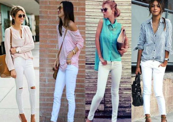 Beyaz Pantolon Kombinleri 2019-2020