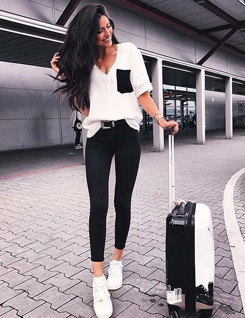 Siyah Pantolon Kombinleri Ve En Iyi Fikirleri Kızlara Moda