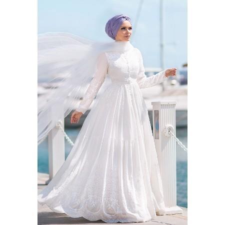 d920447131b44 Nikah Elbisesi Modelleri ve Fiyatları 2019-2020